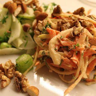 Grøn fennikelsalat vs. arabisk coleslaw