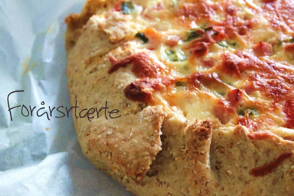 Den fedtfattige tærtedej - forårstærte med skinke og tomater