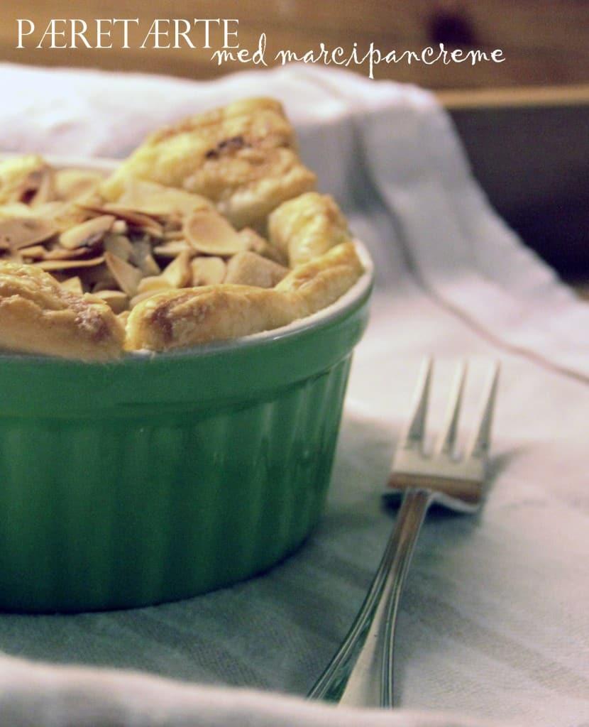æbletærter med butterdej, marcipancreme og mandler
