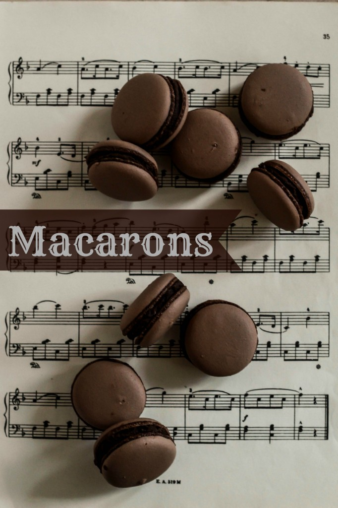 macarons med chokolade, kakao