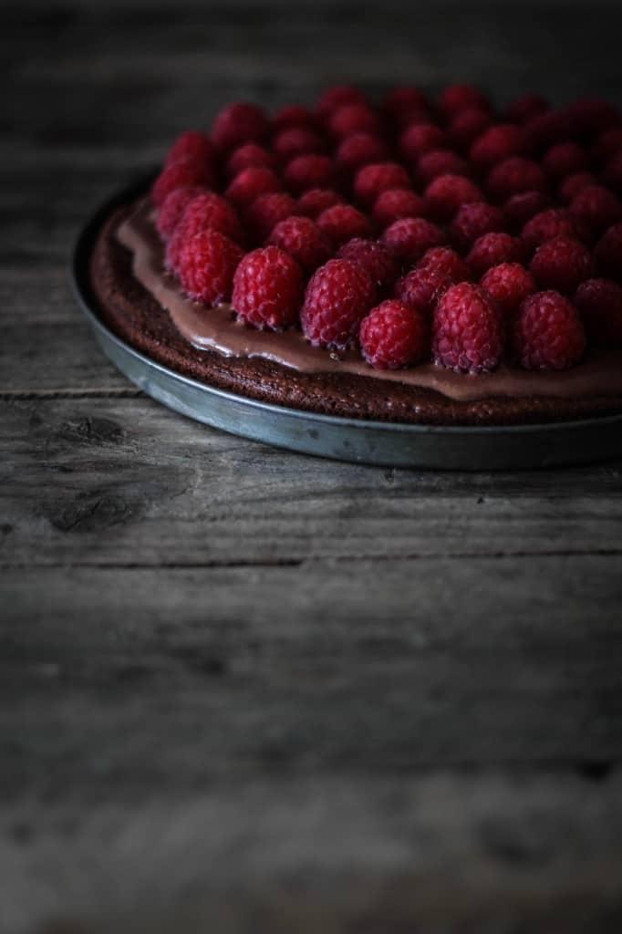 chokoladetærte med hindbær (4)