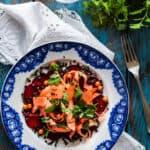 Rødbede/gulerodssalat med belugalinser og havtorn