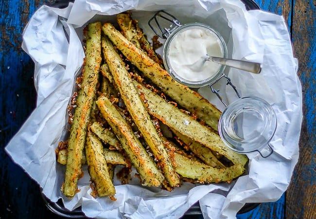 squash parmesan sticks - snack