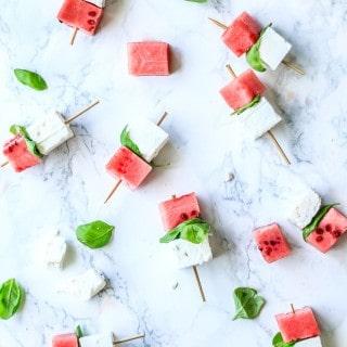 sommer snack - vandmelon med feta - forret til sommerfest - opskrift