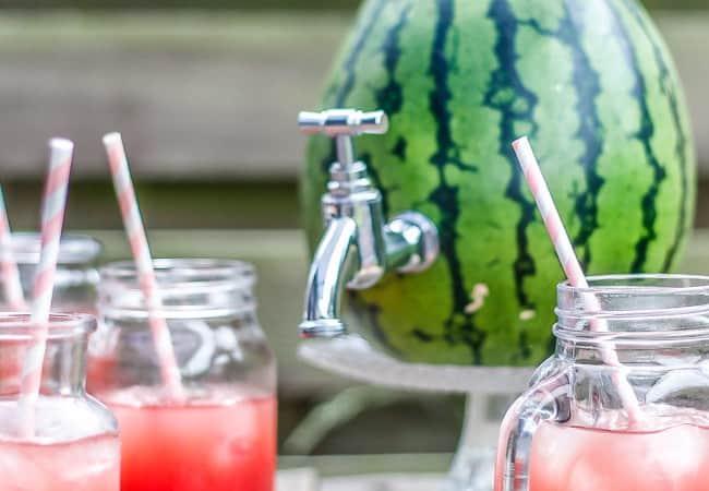 vandmelon dispenser - vandmelon keg - vandmelonsaft - drink - drinkbowle