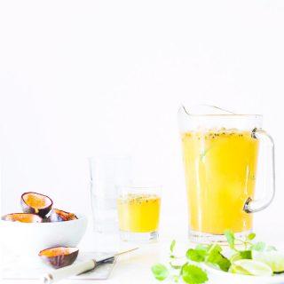 Passionfrugt drink-opskrift med passionfrugt