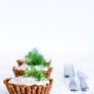 tunmousse - sund tærte med tunmousse - små tærter