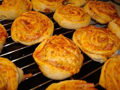 De allerbedste pizzasnegle - skinke og ost