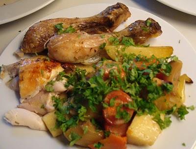 Helstegt kylling med smovs