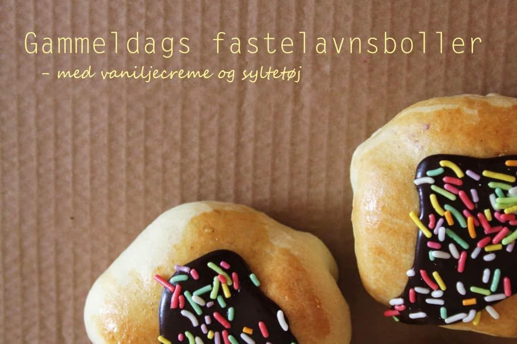 Gammeldags fastelavnsboller med vaniljecreme og syltetøj