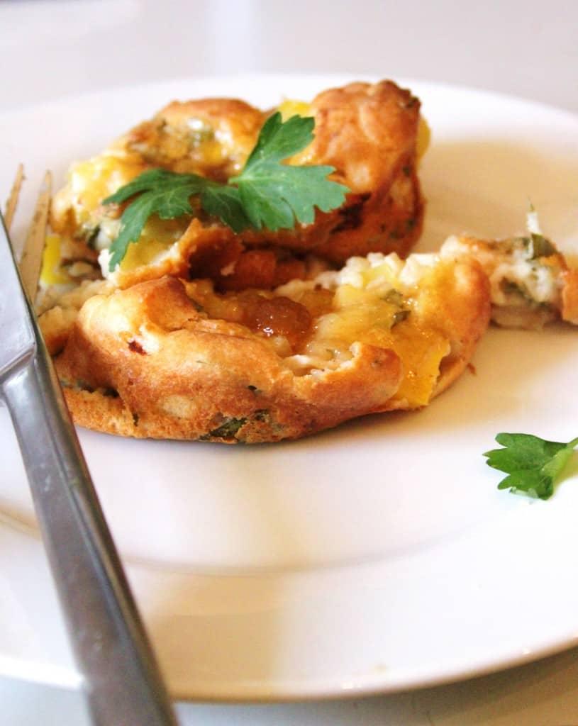 Madmuffins med mango og kylling