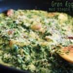 Grøn æggekage med stegte kartofler