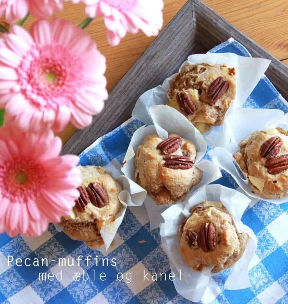 Pecanmuffins med æble og kanel