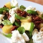 Mangosalat med basilikum, soltørrede tomater og mozzarella – skøn i sommervarmen