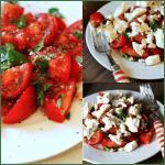 Tomatsalat med feta og balsamico