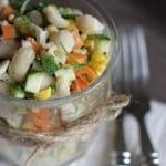 Sund og mættende salat med butterbeans