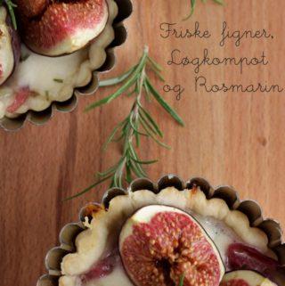 Figentærte med løgkompot og rosmarin