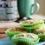 Sunde muffins med pære, kardemomme og mandel