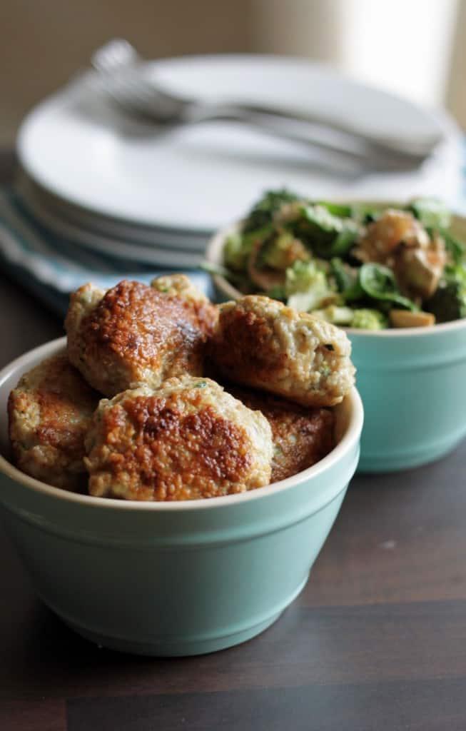 Kyllingdeller med squash+ spinatsalat med asiatisk-dressing