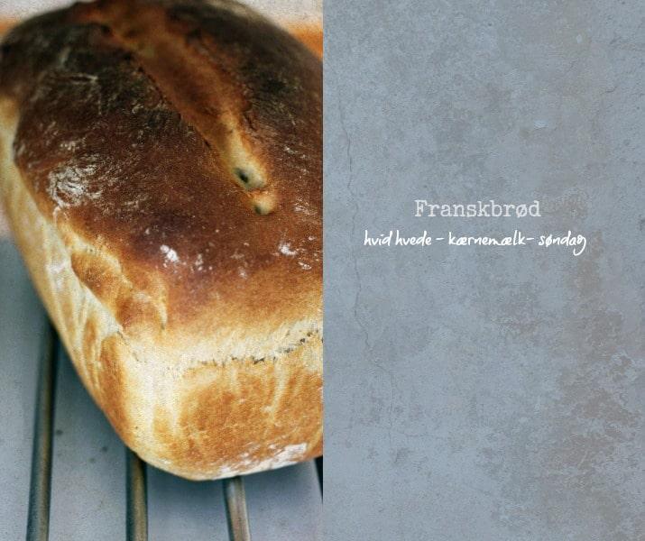 Franskbrød Med Hvid Hvede Og Kærnemælk