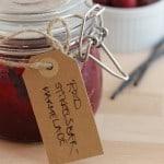 Rød stikkelsbærmarmelade med vanilje