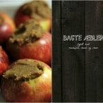 BAGTE ÆBLER – fyldt med marcipan, kanel og smør