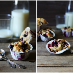 Solbær-muffins med marcipan og yoghurt