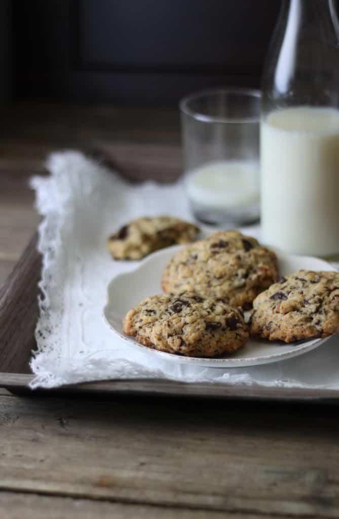 Chocolate almond cookies / Cookies med mandler og chokolade