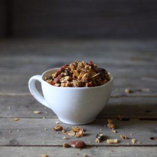 Honningristet nødde-granola