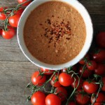 Rustik gazpacho med mandler