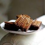 Brownie with pretzels