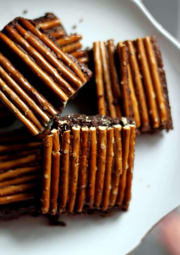 Brownies med pretzels