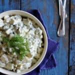 Kold kartoffelsalat - opskrift på klassisk kartoffelsalat