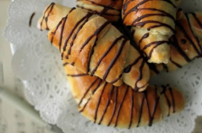 æblehorn med marcipan
