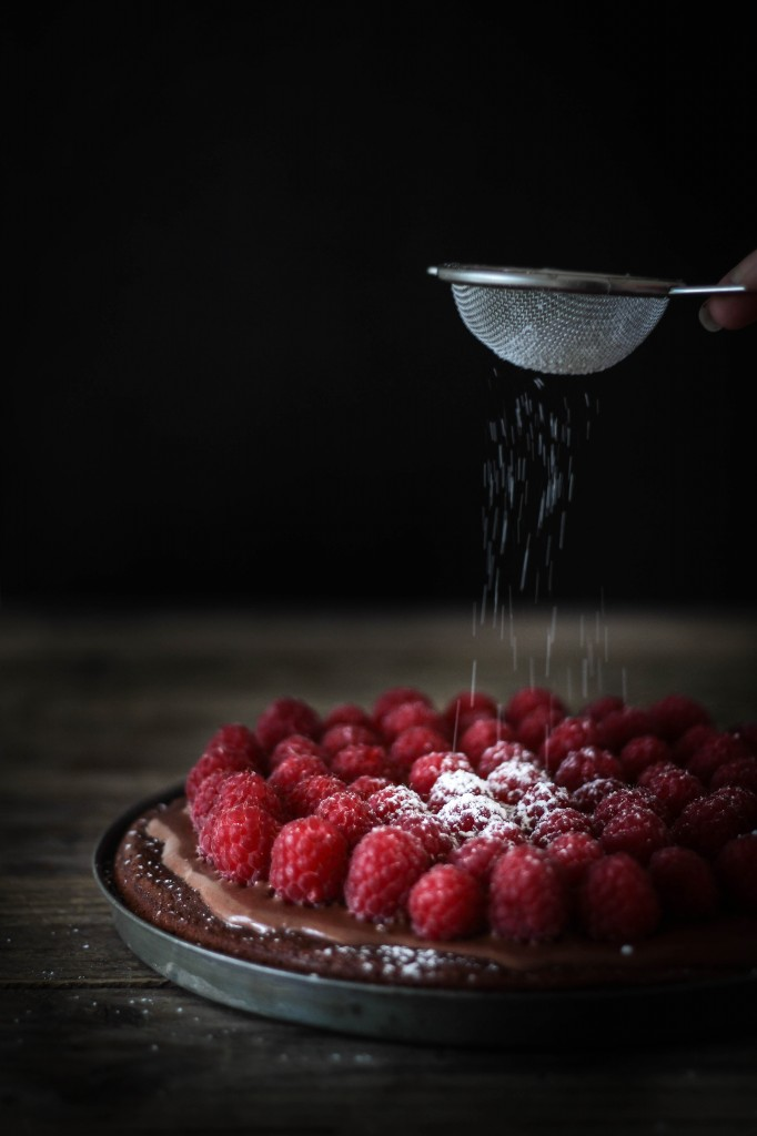 chokoladetærte med hindbær (5)