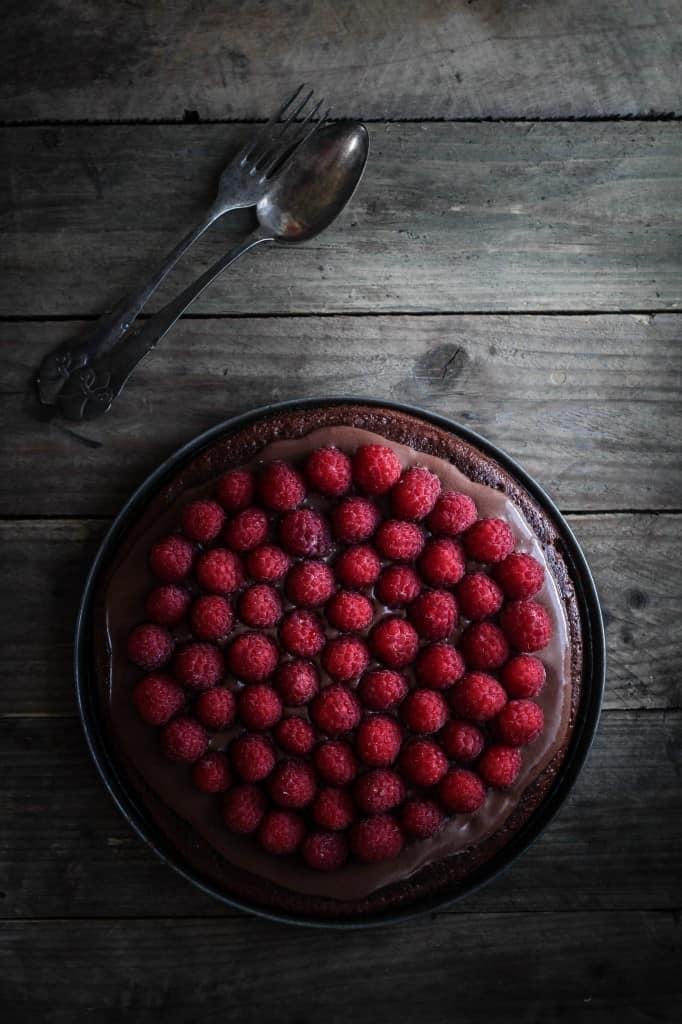 chokoladetærte med hindbær (6)