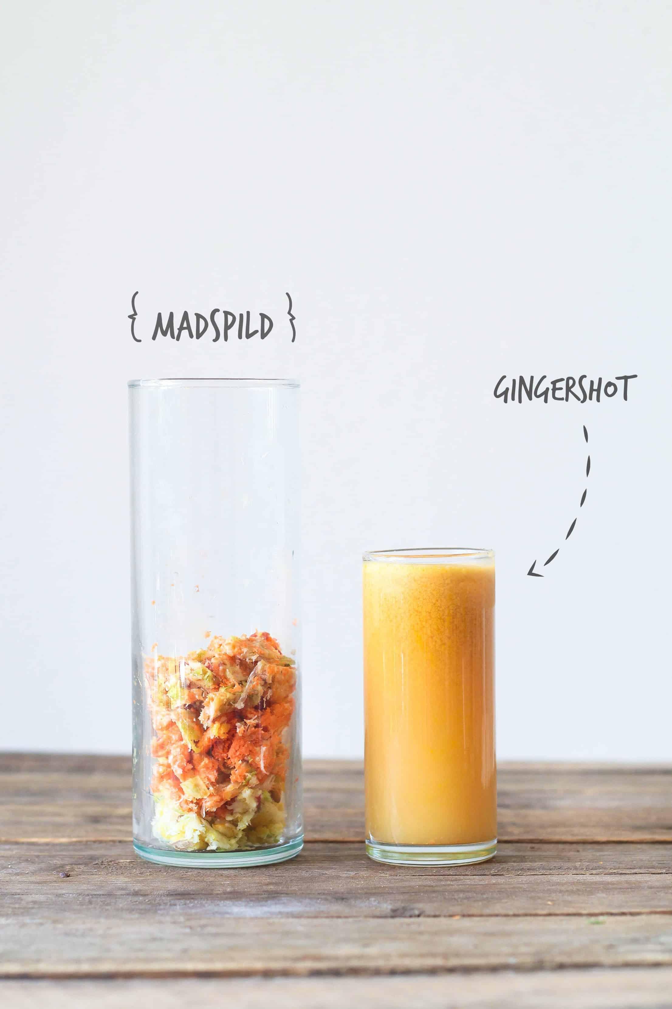 ingefærshot i juicer