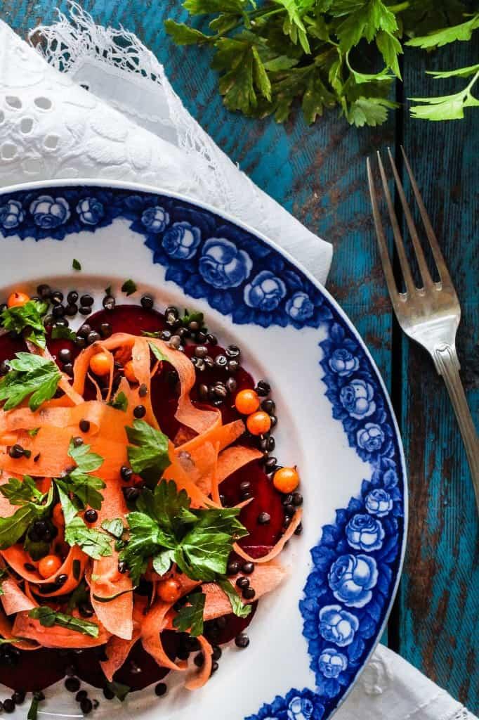 rødbede - gulerodsalat