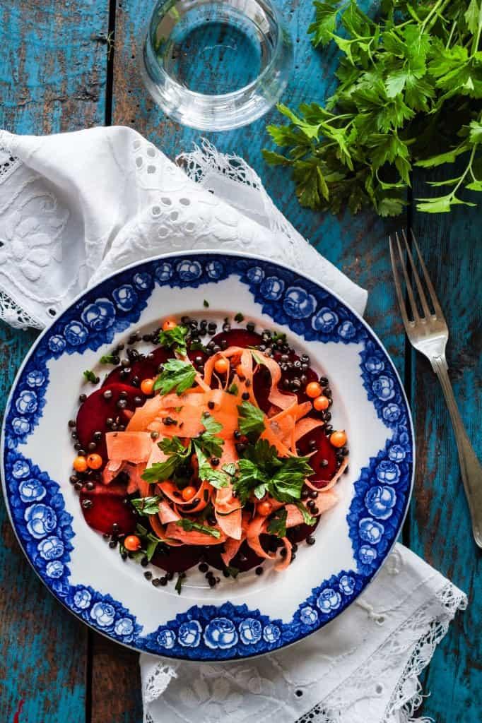 rødbede - gulerodsalat (2)