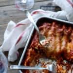cannelloni med feta, skinke og tomatsauce - pasta opskrift