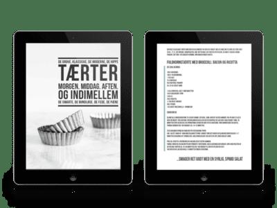 e-bog - e-kogebog - tærter - tærteopskrift