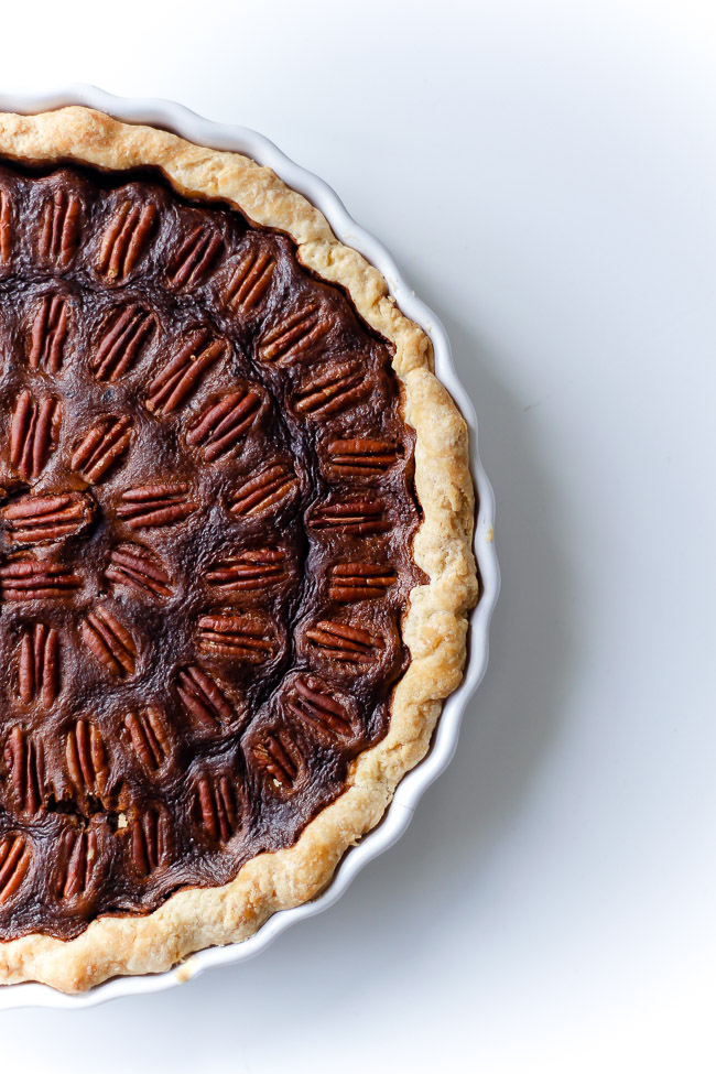 Pecan Pie med bourbon opskrift - tærte med nødder