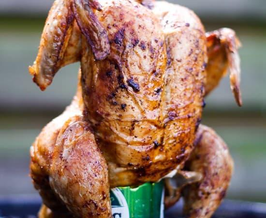 kylling på grill - øldåse - grillkylling
