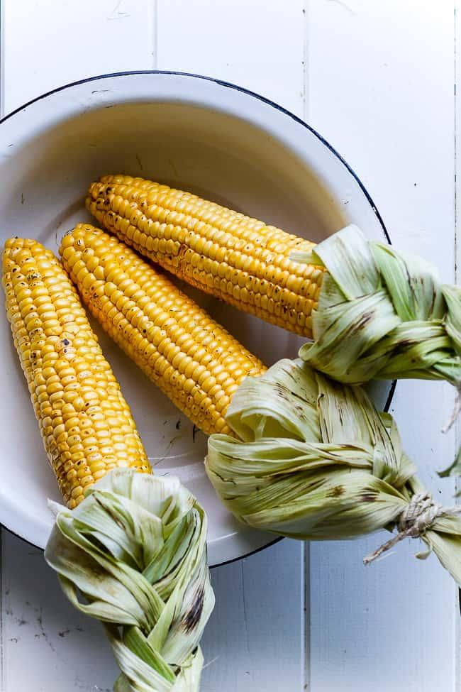 grillede majs - krydrede majskolber - mexican street corn - opskrift