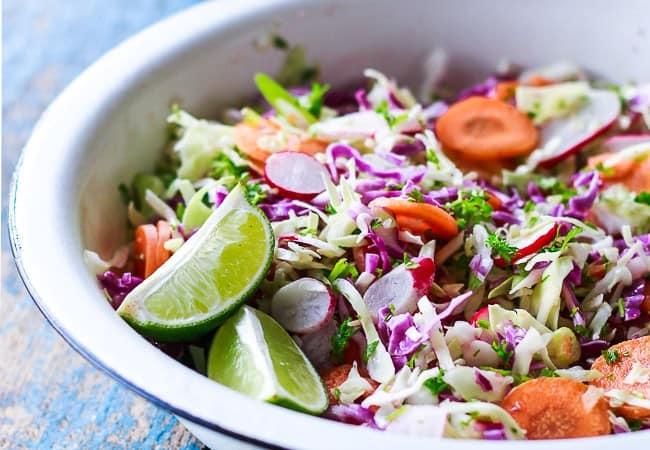 mexican salat - kålsalat - spidskål - mættende salat - opskrift