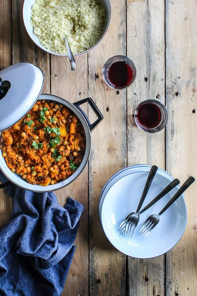 marokkansk-mad-Marokkansk gryderet med græskar og kikærter