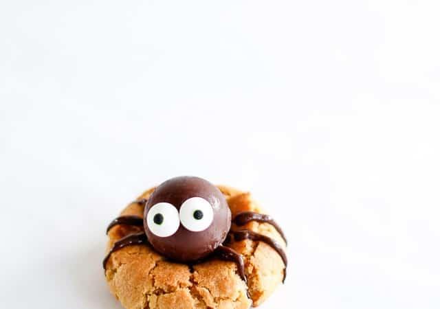 edderkop cookies - spider cookies - peanutbutter - halloween - opskrift