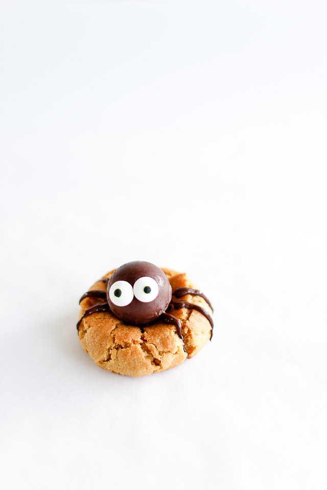 Peanutbutter spider cookies