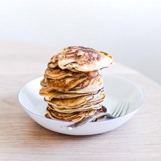 pandekager med æble - tykke pandekager - opskrift