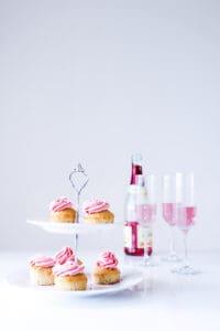champagne cupcakes med frosting - muffins - festmad - opskrift
